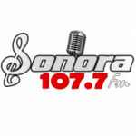 Logo da emissora Radio Sonora FM 107.7 FM