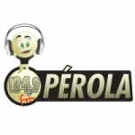 Logo da emissora Rádio Pérola 104.9 FM