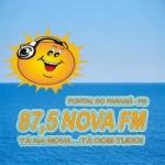 Logo da emissora Rádio Nova FM 87.5
