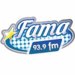 Logo da emissora Radio Fama 93.9 FM