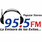 Logo da emissora Radio Popular Stereo 95.5 FM
