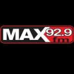 Logo da emissora Radio Max 92.9 FM
