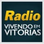 Logo da emissora Rádio Internacional Vivendo em Vitórias