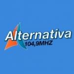 Logo da emissora Rádio Alternativa 104.9 FM