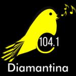 Logo da emissora Rádio Canarinho 104.1 FM