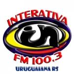 Logo da emissora Rádio Interativa 100.3 FM