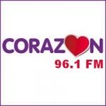 Logo da emissora Radio Corazón 96.1 FM