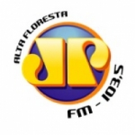 Logo da emissora Rádio Jovem Pan 103.5 FM
