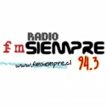 Logo da emissora Radio Siempre 94.3 FM