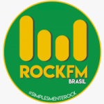 Logo da emissora Rock FM Brasil