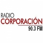Logo da emissora Radio Corporación 90.3 FM