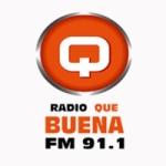 Logo da emissora Radio Que Buena 91.1 FM