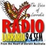 Logo da emissora Radio Larrakia 94.5 FM