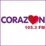 Logo da emissora Radio Corazón 105.3 FM