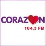 Logo da emissora Radio Corazón 104.3 FM