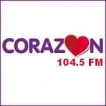 Logo da emissora Radio Corazón 104.5 FM