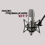 Logo da emissora Radio Promaucaes 107.7 FM