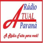 Logo da emissora Rádio Atual Parana