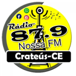 Logo da emissora Rádio Nossa 87.9 FM