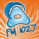 Logo da emissora Radio Atlántida 102.7 FM