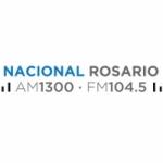 Logo da emissora Radio Nacional Rosario 1300 AM 104.5 FM