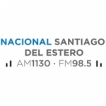 Logo da emissora Radio Nacional Santiago del Estero 1130 AM 98.5 FM