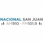 Logo da emissora Radio Nacional San Juan 910 AM 101.9 FM