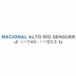 Logo da emissora Radio Nacional Río Senguer 740 AM 93.5 FM