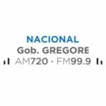 Logo da emissora Radio Nacional Gob Gregores 720 AM 99.9 FM