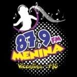 Logo da emissora Rádio Menina 87.9 FM