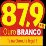 Logo da emissora Rádio Ouro Branco 87.9 FM