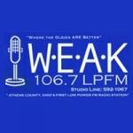 Logo da emissora Radio WEAK-LP 106.7 FM