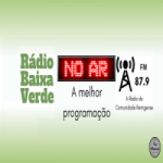 Logo da emissora Rádio Baixa Verde 87.9 FM