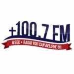 Logo da emissora WEEC 100.7 FM
