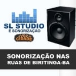 Logo da emissora SL Studio e Sonorização