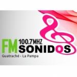 Logo da emissora Radio Sonidos 100.7 FM