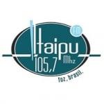 Logo da emissora Rádio Itaipu 105.7 FM