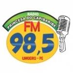 Logo da emissora Rádio Princesa do Capibaribe 98.5 FM