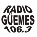 Logo da emissora Radio Guemes 106.3 FM