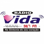 Logo da emissora Rádio Vida 98.7 FM