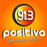 Logo da emissora Radio Positiva 91.3 FM