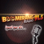 Logo da emissora Radio Boomerang 91.5 FM