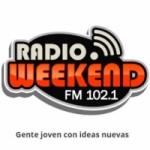 Logo da emissora Radio Weekend 102.1 FM