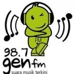 Logo da emissora Radio Gen 98.7 FM