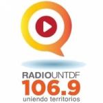 Logo da emissora Radio UNTDF 106.9 FM