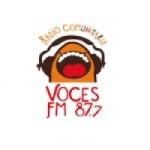 Logo da emissora Radio Voces 87.7 FM