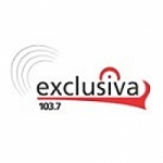 Logo da emissora Radio Exclusiva 103.7 FM