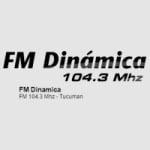 Logo da emissora Radio Dinámica 104.3 FM