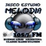 Logo da emissora Radio Melodia 105.7 FM