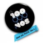 Logo da emissora Radio La 100 106.3 FM